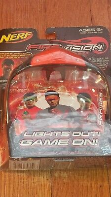 NERF FireVision Fire Vision Sports Glow Glowing Frames Red Glasses Goggles NEW