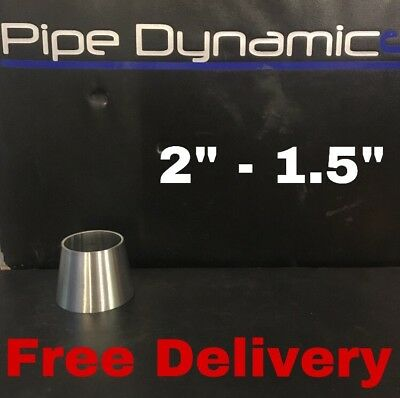 "2"" inch to 1.5"" inch 316L Stainless Steel Exhaust Reducer Cone"