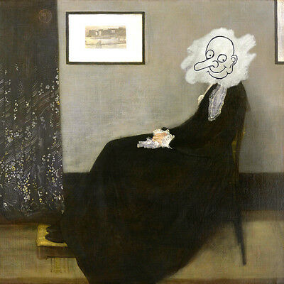Mr BEAN WHISTLERS MOTHER FRAMED CANVAS - MOVIE PRINT - Home / Wall Art Decor