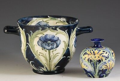 William Moorcroft 2 HANDLED POPPY FLORIAN VASE C.1902