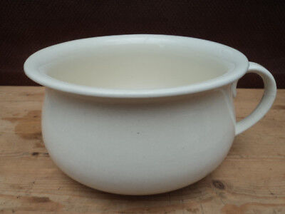 George Jones and Sons Antique White Chamber Pot Bed Pot Planter