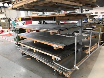 Rotary sheet material rack for workshop. Really Useful In Small Spaces