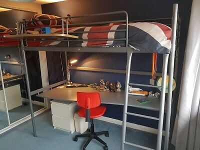 Ikea Svarta Single Loft Bed Frame With