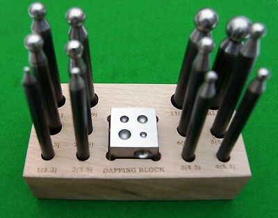 Doming Set of 13 for use in Antique clock and Jewellery repair, superb quality!