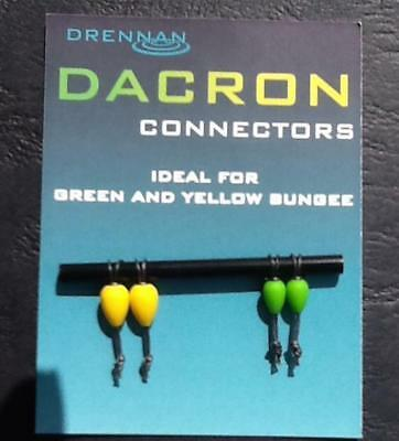 drennan dacron connectors GREEN AND YELLOW BUNGEE