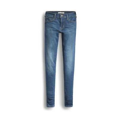 Genuine Levis 710 For Women, Slim Fit & Super Skinny Frolic Jeans In Blue Color