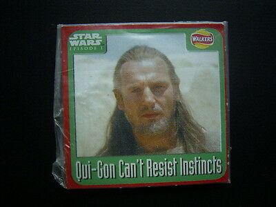 Walkers 1999 Star Wars Episode One 1 Scratch Card Sealed  Qui-Gon  NO2 (E11)