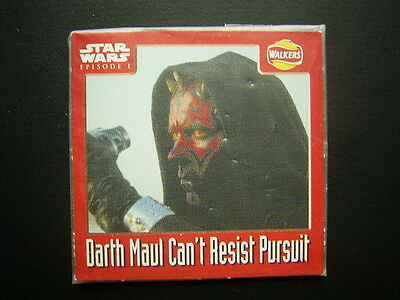 Walkers 1999 Star Wars Episode One 1 Scratch Card Sealed  Darth Maul no2 (E11)