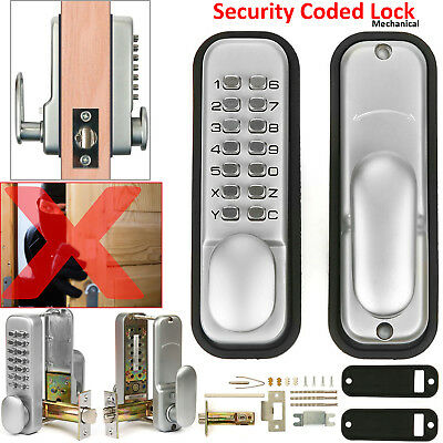 Digital Push Button Mechanical Door Lock Keyless Key Pad Code Combination Access