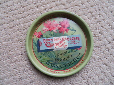 DORNE's Carnation Chewing Gum Tip Tray, Circa 1900 Taste the Smell Wrigley comp