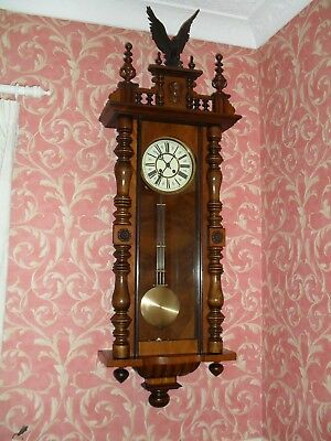 Very Good Large Antique Vienna Wall Clock