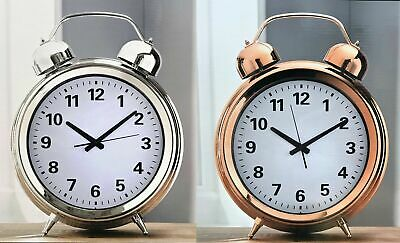 Large Retro Double Bell Design Decor wall clock freestanding clock