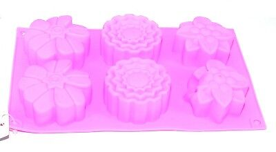 6 Flowers Silicone Muffin Cups Moulds Candy Cookie Chocolate Baking Mold
