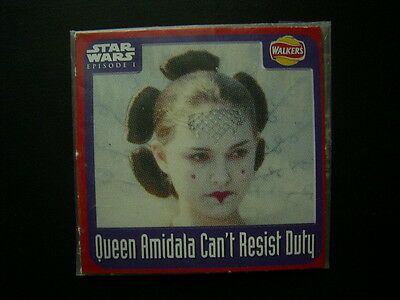 Walkers 1999 Star Wars Episode One 1 Scratch Card Sealed  Queen Amidala  (E11)