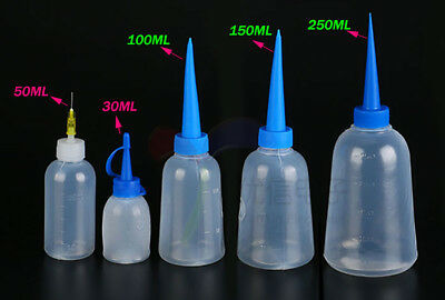 Empty 30~250ML Plastic Squeezable Liquid Container Dropper Bottles LDPE Screwcap