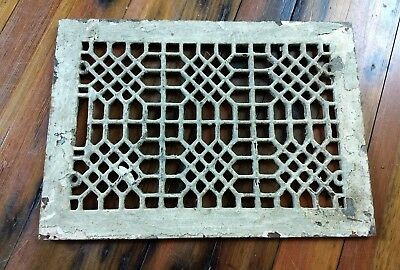 Antique Cast Iron Floor Air Register Heat Vent Grate Cover for 8 X 12 Opening