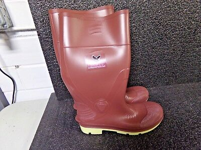 "TINGLEY 15""H Men's Knee Boots, Plain Toe Type, PVC Upper Material SIZE 10 (EF)"