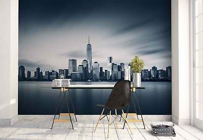 City Manhattan Skyline New York Photo Wallpaper Wall Mural (FW-1108)