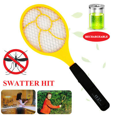 Fly Electric Tennis Racket Practical Wasp Red Blue Bug Zappers Flyswatter