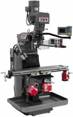 JET 690519 JTM-949EVS Mill 3-Axis Acu-Rite VUE DRO X, Y & Z-Axis Powerfeeds