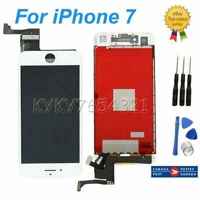 "Screen Glass LCD Display Touch Digitier Replacement for iPhone 7 7g 4.7"" White"