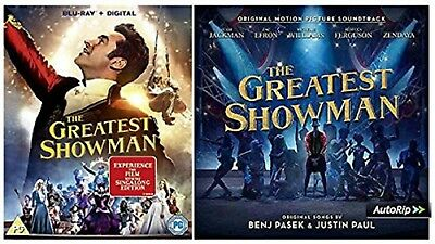 THE GREATEST SHOWMAN BLU RAY Movie + Sing along Audio CD UK Release New R2