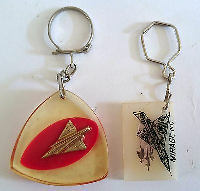 IDF Israeli Air Force Six Day War 1967 Mirage Jet  Keychain Porte-clés Lot of 2