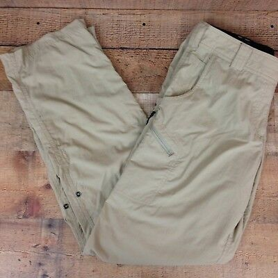 EXOFFICIO 2021-1411 Women's Nomad Roll-up Pant Pants Lt. Weight Hiking Camp Sz 8