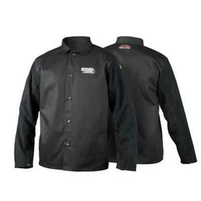 Lincoln Electric K3106-2XL Traditional Split Leather Sleeved Welding Jacket, 2XL