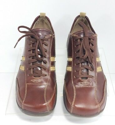 f4b10c58cbc STEVE MADDEN mens 9.5 Stryker brown leather sneaker comfort shoes ...