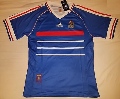 France 1998 Retro Football Soccer Shirt Home Vintage Classic