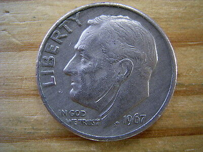 1967  usa 1 dime  coin collectable