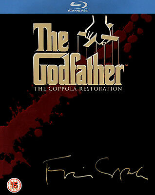 GODFATHER COMPLETE TRILOGY BLU RAY 4 Discs PART 1 2 3 Al Pacino UK Rele New R2