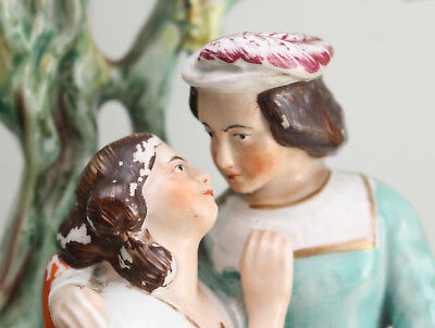 A Fine Antique c19th Staffordshire Group, Jessica & Lorenzo