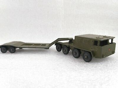 Russian Soviet original diecast military metal toy Vehicle tractor with trailer
