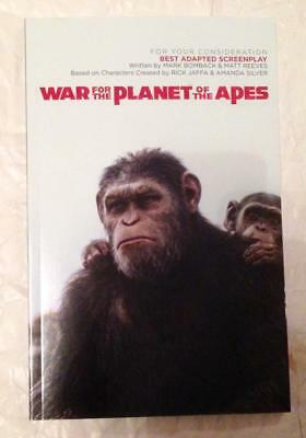 WAR FOR THE PLANET OF THE APES, Mark Bomback, Matt Reeves 2017 FYC screenplay pb