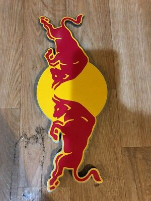 """red bull energy drink sign metal commercial grade double sided bar 12"""" Long 5"""" H"""