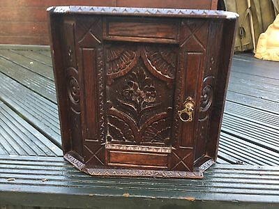 Georgian/ Victorian Carved Oak Corner Cabinet