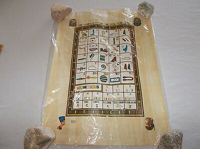 Egyptian Center Elphraena papyrus paper numbers and letters symbol translations
