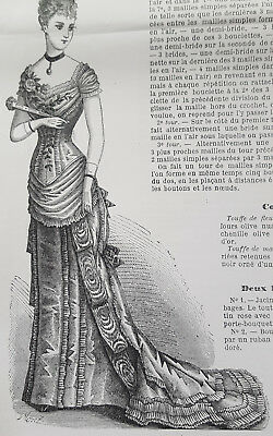 La Mode Illustree PATTERNS 1878 Antique pattern 1800s Historic Victorian Costume