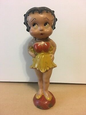"RARE! 1931 Vintage BETTY BOOP composition 13.5"" figure prize doll Keeneye 1930s"