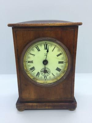 Lovely Antique Wooden Hac Crossed Arrows Mantle Clock