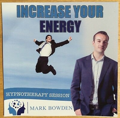 Increase Your Energy - Mark Bowden (CD-Audio, 2014) Hypnotherapy, Hypnosis