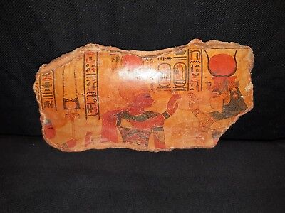 Rare Antique Ancient Egyptian Pottery Fragment Queen Cleopatra 69-30 BC