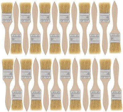 US Art Supply 24 Pack of 1-1/2 inch Paint and Chip Paint Brushes for Paint, and