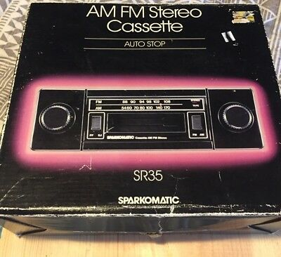 vintage sparkomatic am fm stereo car radio with cassette $110 00 JVC Wiring-Diagram vintage brand new sparkomatic sr35 am fm stereo cassette player w shaft knobs