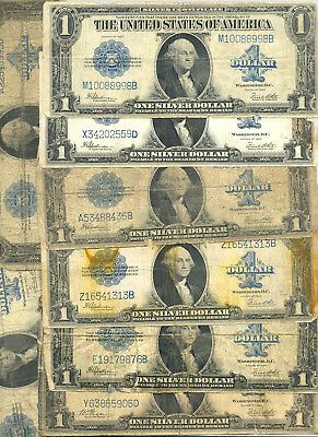 $18.50 in face value of $1 Series 1923 Silver Certificates Fr. 237 and 238