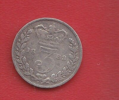 Great Britain 3 Pence 1883 Silve