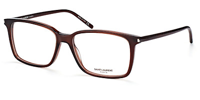 Saint Laurent  SL 46 003 Eyeglasses Brown Rectangular Frame 54mm