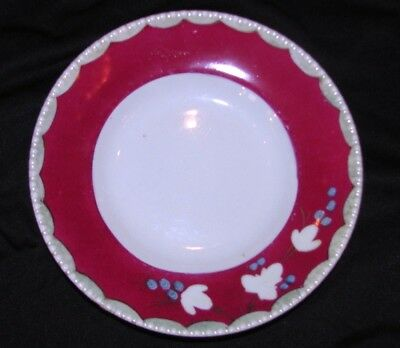 Antique Russian Porcelain Plate Hand Painted 19th Century
